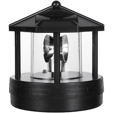 Solar Led Rotating Lighthouse Light Garden Yard Lawn Lamp Lighting Outdoor Decor