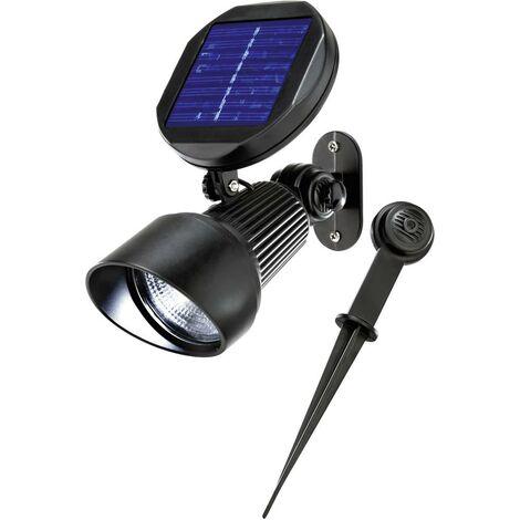 Solar LED Strahler kaltweiß Solarleuchte Wandlampe Solarlampe, esotec 102138