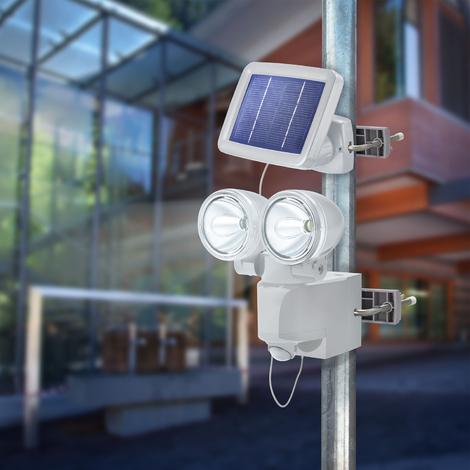 LED Solarleuchte Bewegungsmelder Solarstrahler Wandstrahler Solarlampe Strahler