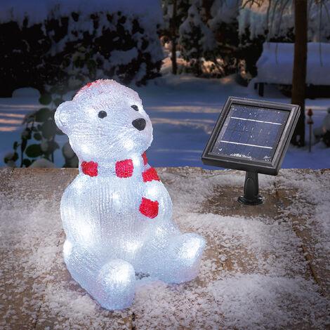 Solar Leuchtbär décoration d'hiver décoration de Noël éclairage extérieur, esotec 102123