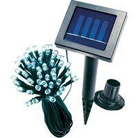 Solar Mosaikleuchte blau Tischleuchte Glasleuchte Solarlampe Außen esotec 102320