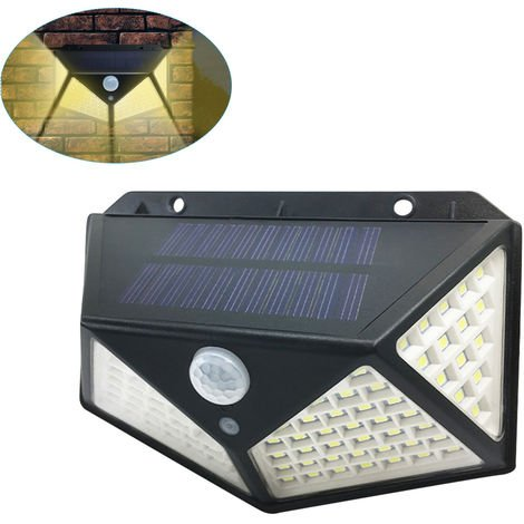 Solar Light 100Led Wall Lamp Motion Detector Warm White