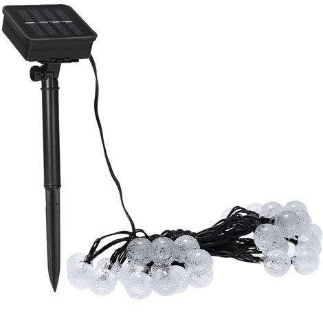 Solar light string 6 meters 30LED light bubble ball 8 modes