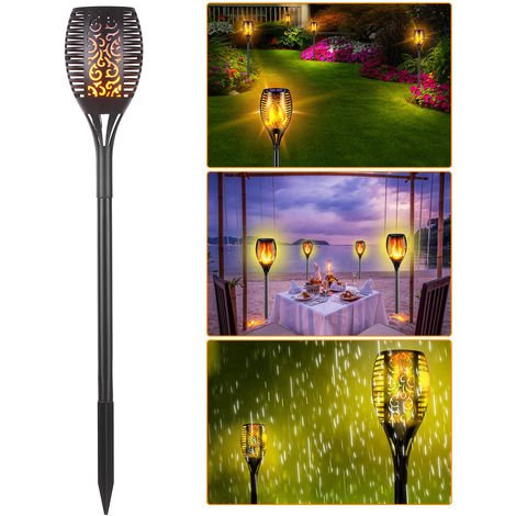 Solar Light Waterproof Flickering Flame Torch Light 96 LED Outdoor Lighting