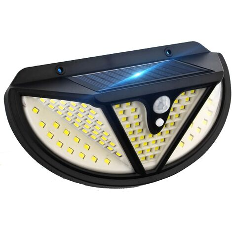 """main image of """"Solar lights for outdoors with motion detector, 118 super bright 300 ° outdoor LED spotlights 3】 modes, 4 waterproof solar wall lights SOEKAVIA"""""""