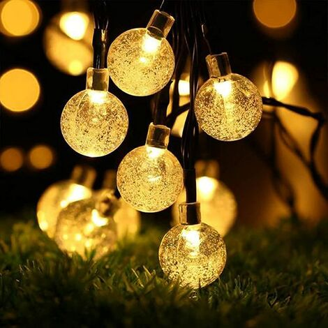 Solar Lights Outdoor String Waterproof, 50LED 7M/23Ft Solar Fairy Lights Outdoor, 8 Modes Solar Powered PatioLights for Garden, Courtyards , Parties, Weddings (Warm White)