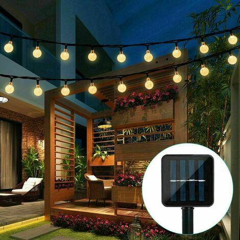 Solar Lights String Lights Outdoor Decorative Lighting Multicolor 6.5M 30LED