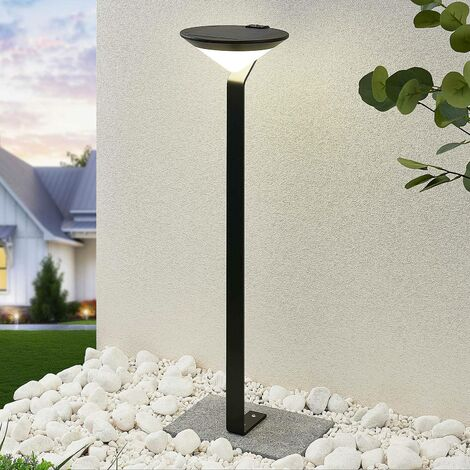 Solar Lights with Sensor 'Clamor' (modern) in Black made of Aluminium (A+) from Lindby