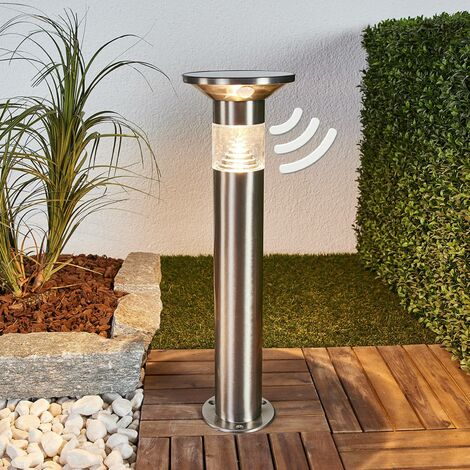 Solar Lights with Sensor 'Jalisa' (modern) in Silver made of Stainless Steel (1 light source, A+) from Lindby