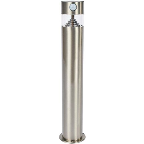 Solar Lights with Sensor 'Kalypso' (modern) in Silver made of Stainless Steel (1 light source, A+) from Lindby