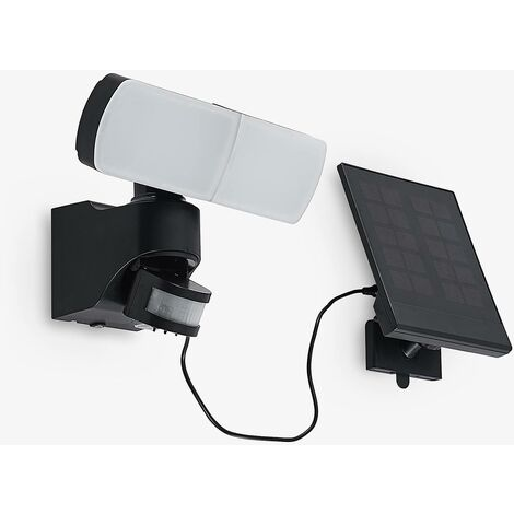Solar Lights with Sensor 'Lissano' (modern) in Black (1 light source, A+) from Arcchio