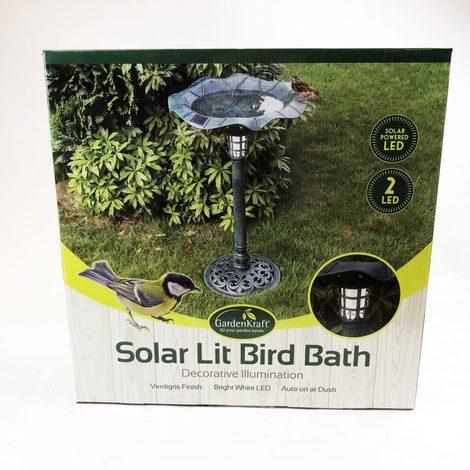 Solar Lit Bird Bath