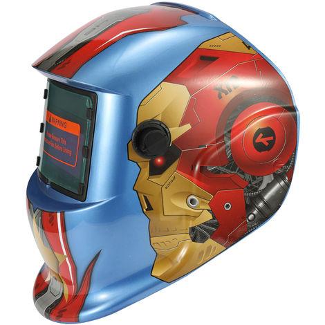 Solar mascara de soldadura, soldadura Cap, con 2pcs Arco sensores, el hombre de hierro