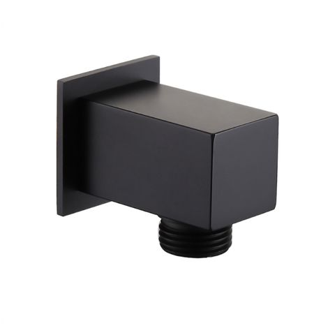 Solar Matt Black Square Shower Wall Outlet