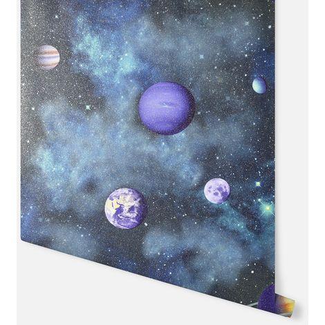 Solar Navy Multicoloured Wallpaper - Arthouse - 296000