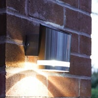 Solar Outdoor Stainless Steel Security Welcome Wall Light, 13cm