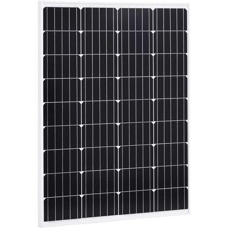 Solar Panel 100 W Monocrystalline Aluminium and Safety Glass