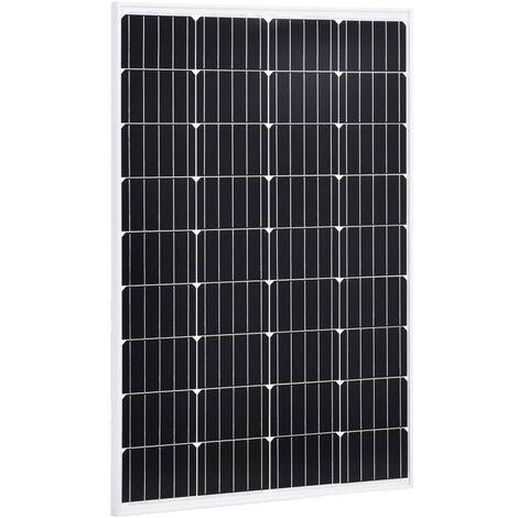Solar Panel 120 W Monocrystalline Aluminium and Safety Glass