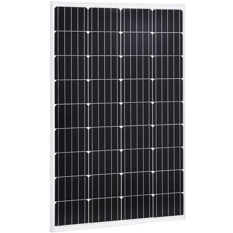 Solar Panel 120 W Monocrystalline Aluminium and Safety Glass