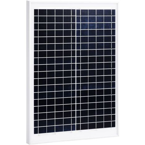 Solar Panel 20 W Polycrystalline Aluminium and Safety Glass