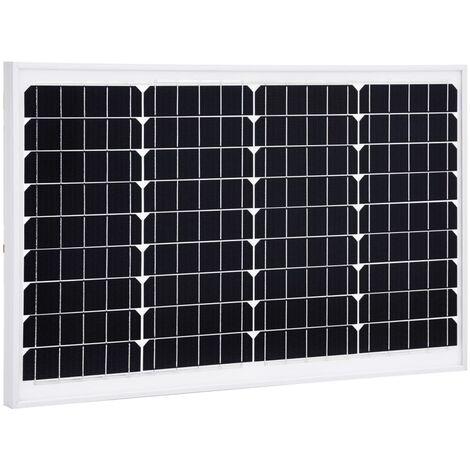 Solar Panel 40 W Monocrystalline Aluminium and Safety Glass