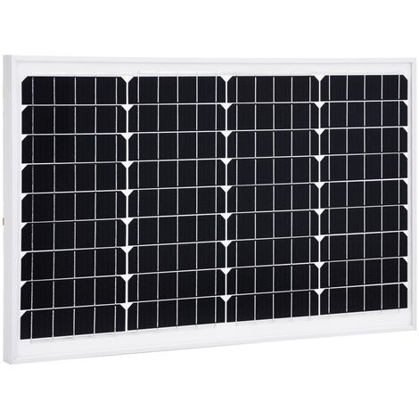 Solar Panel 40 W Monocrystalline Aluminium and Safety Glass
