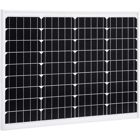 Solar Panel 50 W Monocrystalline Aluminium and Safety Glass