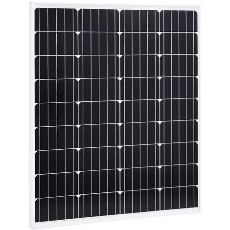 Solar Panel 80 W Monocrystalline Aluminium and Safety Glass