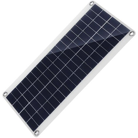 Solar Panel with Dual USB Port High Efficiency Polycrystalline Silicon Solar Cell for DIY Camping Power Charger Compatible for iPhone