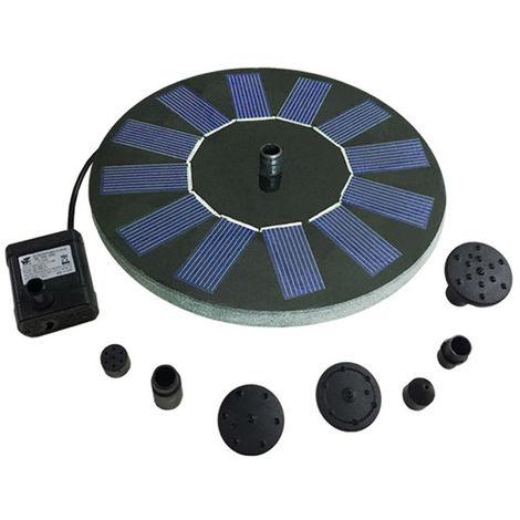 Solar piscina circular fuentes solares patio del jardin del estanque de peces para bombas de agua del geiser, 130mm