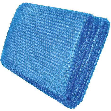 """main image of """"Solar Pool Cover RectangularThick Solar Film Cover for Hot Tub Frame Pool or Easy Set Pools, Blue"""""""