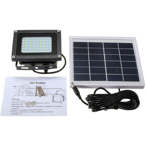 Solar Power 54 LED Sensor Outdoor Garden Pathway Wall Security Light Solar Lawn Flood Lamps Lights Waterproof