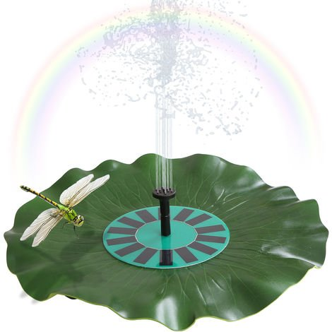 Solar-power Lotus Leaf Fountain Floating Brushless Decoration Pump Kit with Monocrystalline Solar Panel