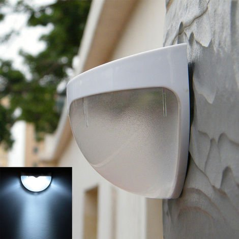 Solar Power Wireless LED Lamp Wall Mount Light Sensor