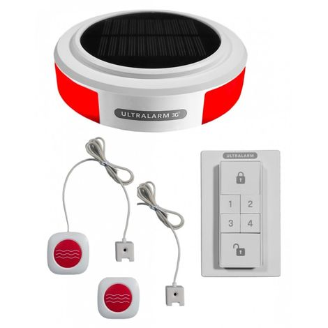 Solar Powered 3G GSM Ultralarm Double Water Alarm Kit