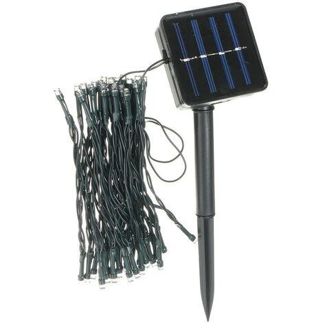 Solar Powered 50 LED Fairy String Light Yard Garden Path Birthday Bar Lamp