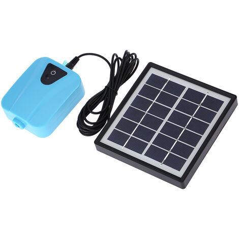 Solar Powered/DC Charging Oxygenator Water Oxygen Pump Pond Aerator with 1 Air Stone Aquarium Airpump 2L/min
