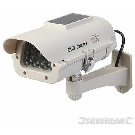 Solar-Powered Dummy CCTV Camera with LED - Solar-Powered (614458)