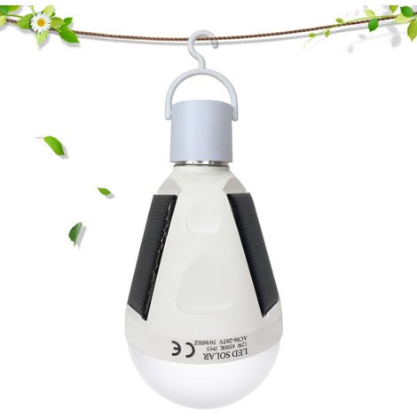 Solar Powered Emergency LED Bulb 12W SMD5730 Sensitive Touch Control IP65 Water Resistance Rechargeable Portable Lamp Light