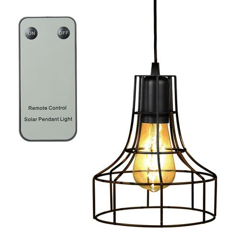 Solar Powered Energy Pendant Light Outdoor Lamp Sensitive Light Remote Control Pull-cord Switch IP44