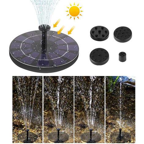 Solar Powered Floating Bird Bath Water Fountain Outdoor Pond Pool Garden Patio