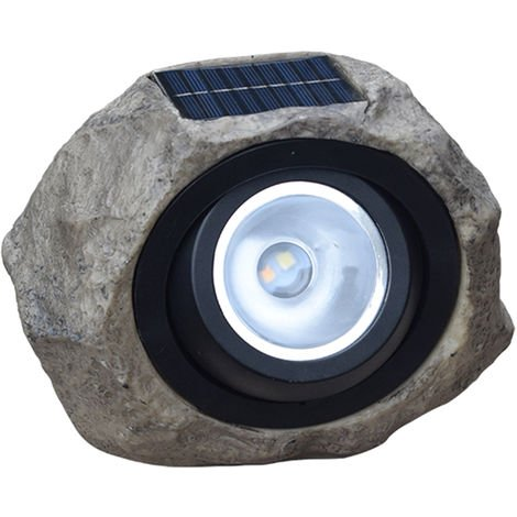 Solar Powered Lamp Simulation Stone Lawn Light Outdoor Water-resistant Landscape Lighting for Garden Yard Patio Pathway