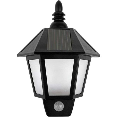 """main image of """"Solar Powered Motion Sensor Wall Lights Outdoor Security Sconces LED Lantern Lamp for Garden Patio Patio"""""""