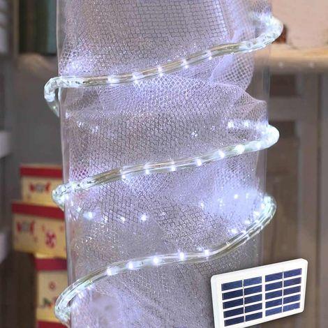 Solar powered Tube 50 LED Christmas Light fixture