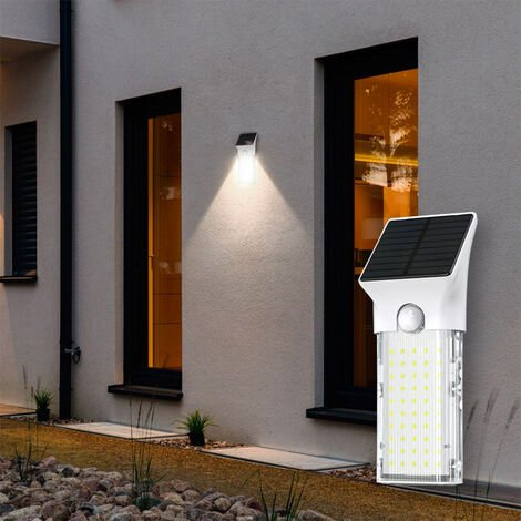Solar Powered Wall Lamp Led Light With Motion Sensore and UV Sanitizer SECURITY