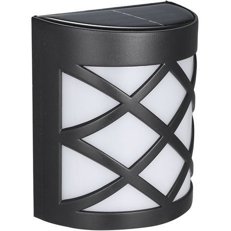 """main image of """"6LED Solar Powered Wall Light Water-resistant Semicircle Wall Lamp"""""""