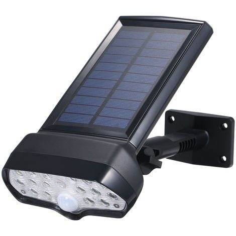 Solar Powered Wall Lights Adjustable Angle PIR Motion Sensor Lamp