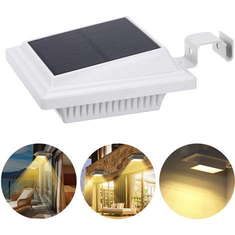 Solar Powered Wall Street Light 25 LEDs Night Lamp Lighting Sensor IP65 Water-resistant Wirelessly Outdoor Solar Lights,Warm White