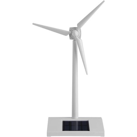 Solar Powered Wind Turbine Toy, Solar Powered Windmill Kids Toy, Miniature Model Solar Powered Kids Wind Turbine Home Garden Office Decoration Education