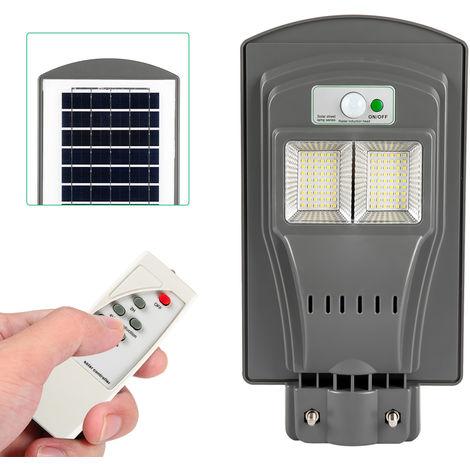 Solar Powered with Remote PIR Motion Sensor & Lighting Sensor Human Body Induction IP65